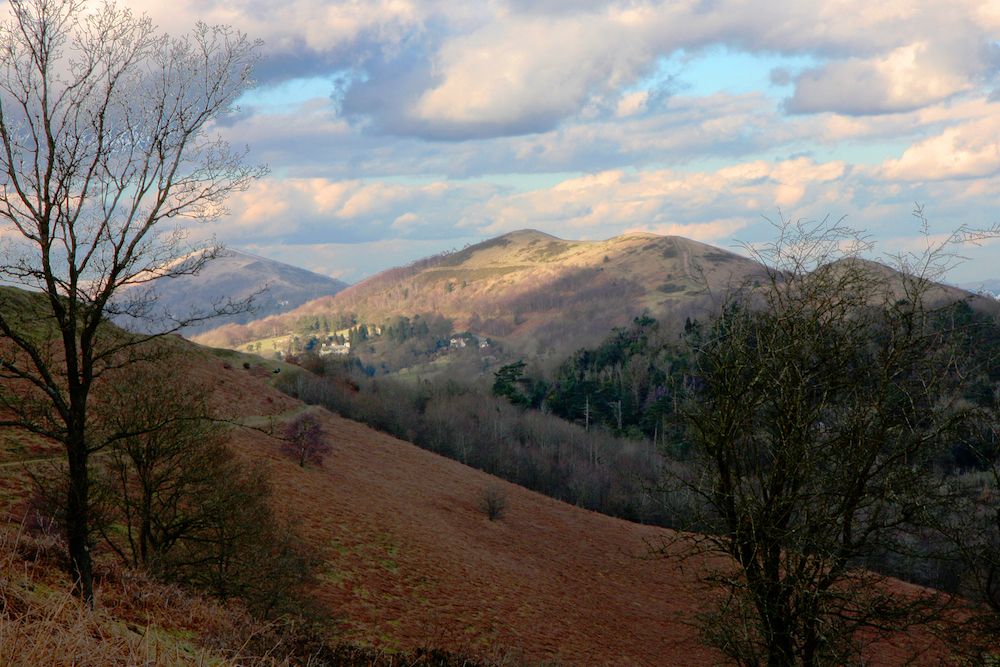Malvern Hills winter view