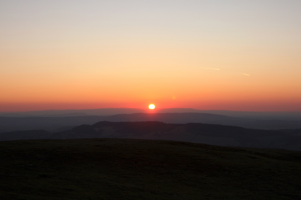Stunning sunset from the Malvern Hills
