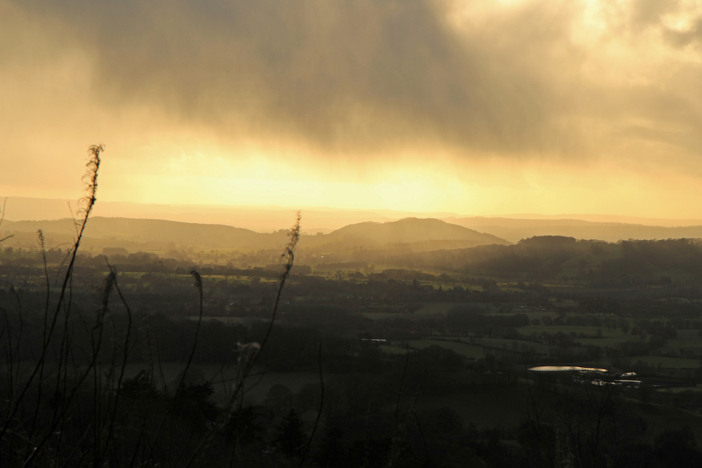 Stormy skies towards Herefordshire