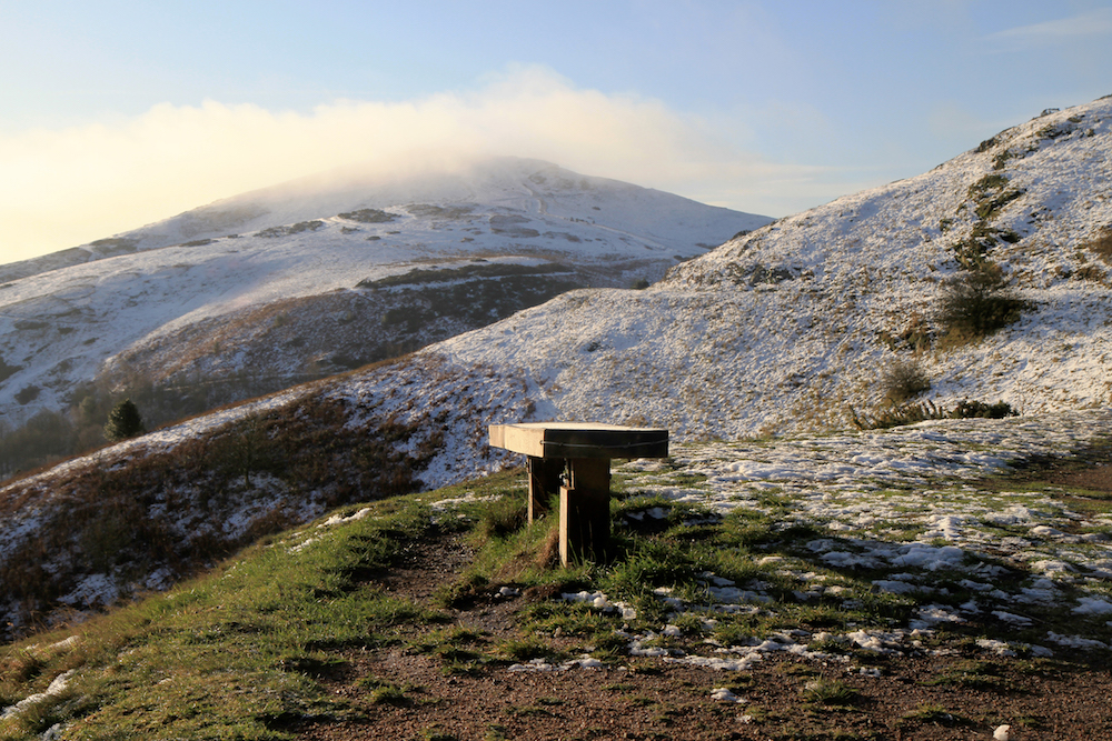 Bench in Winter, Malvern Hills