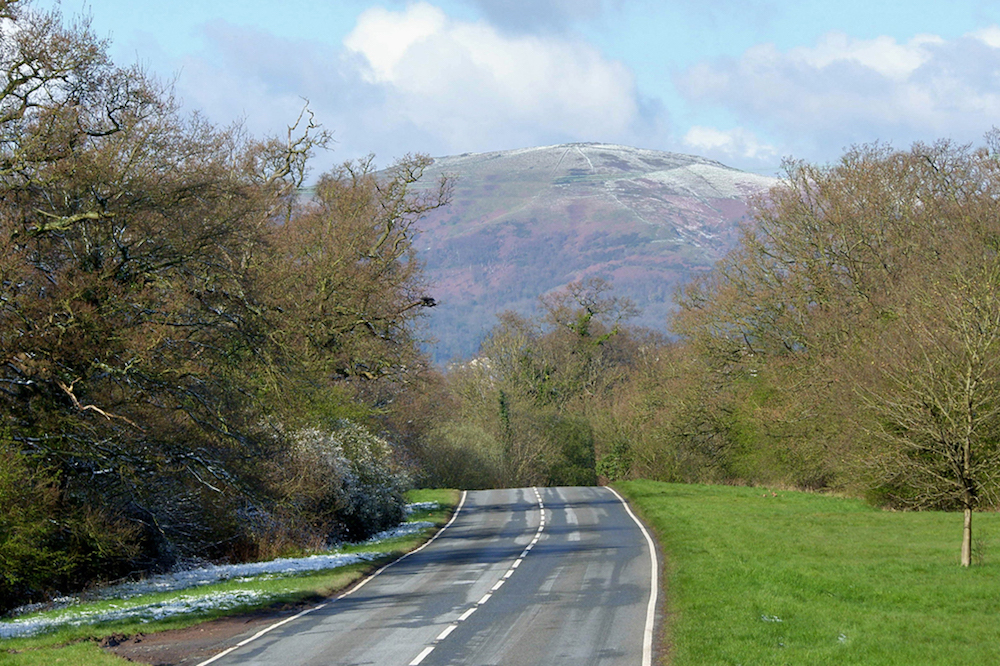 Malvern Hills from Guarlford Road, Worcestershire