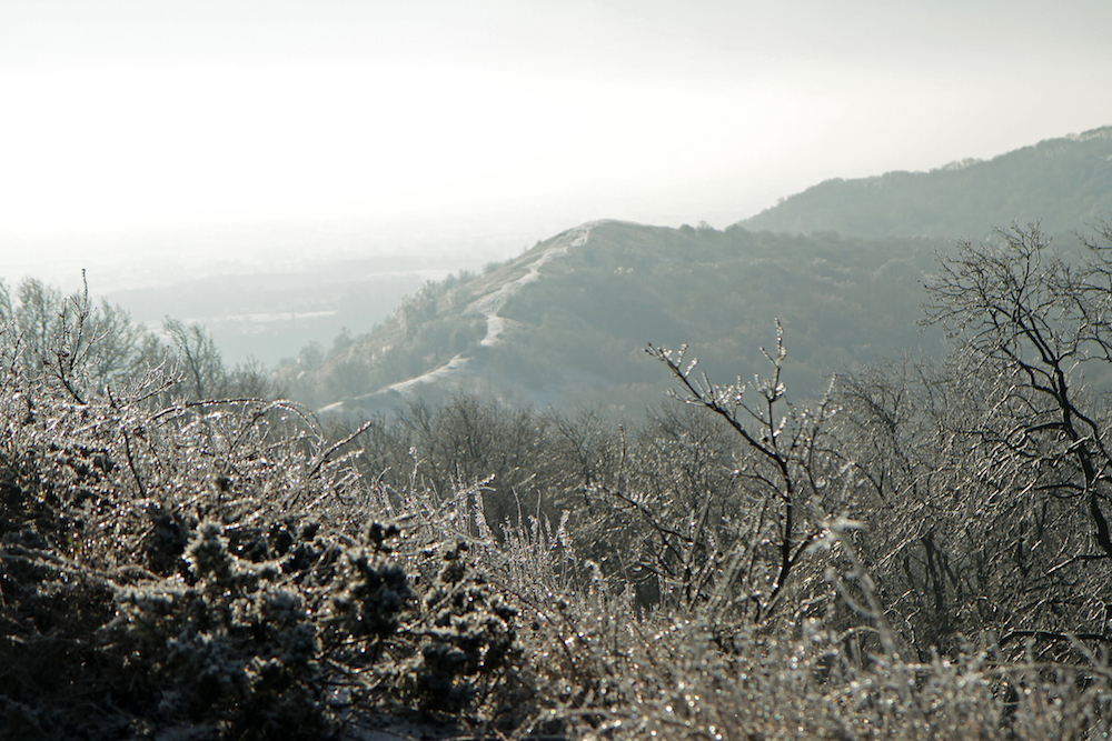 Winter view from British Camp, Malvern Hills