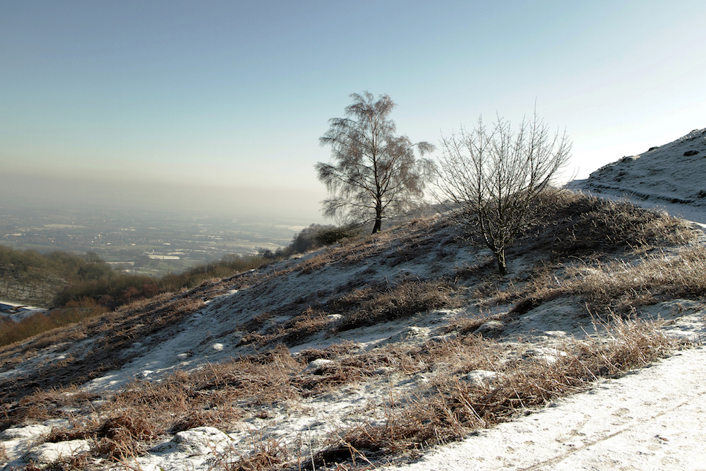 Path around British Camp in Winter, Malvern Hills