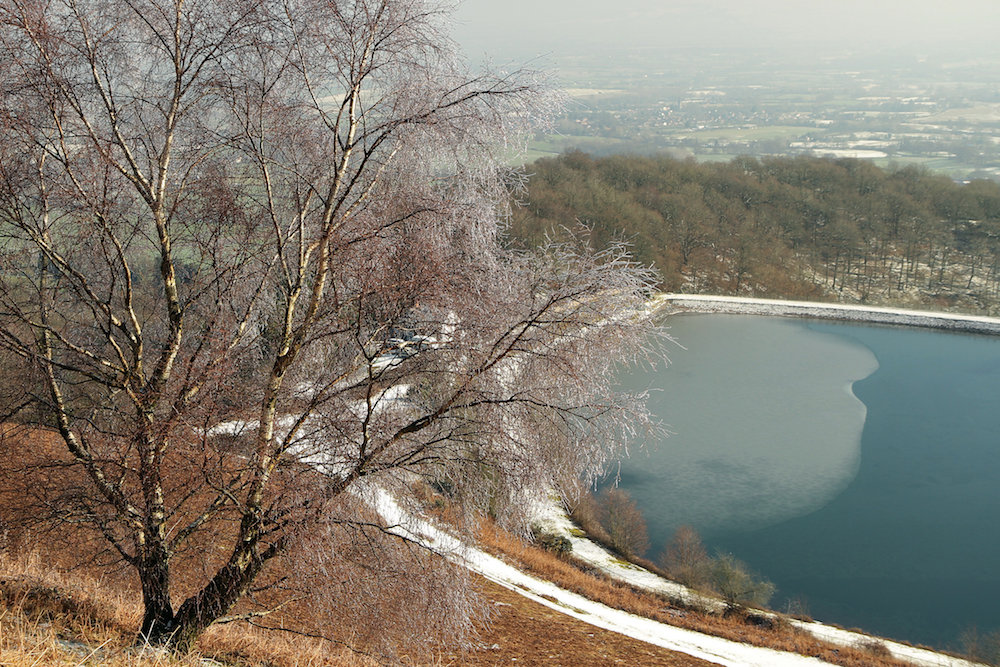 Malvern Hills Reservoir in WInter, Malvern hills