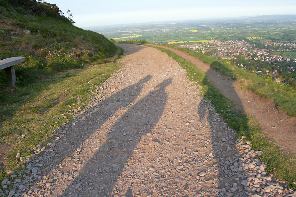Shadows on North Hill path