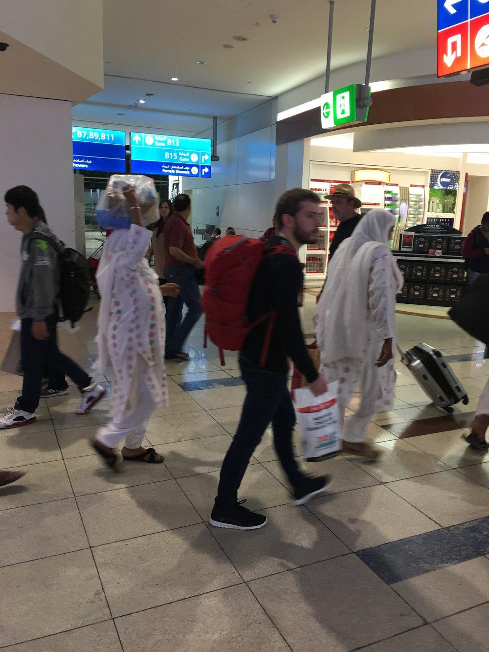 Plastic heads at Dubai Airport