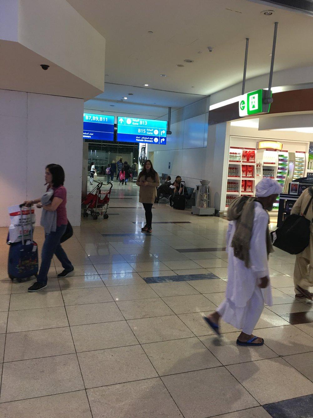 Me at Dubai airport