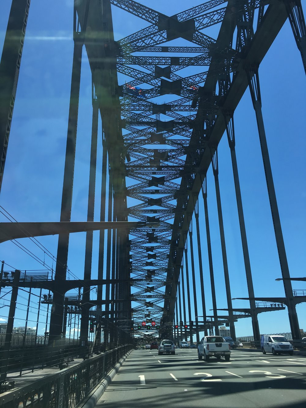 driving over Harbour bridge