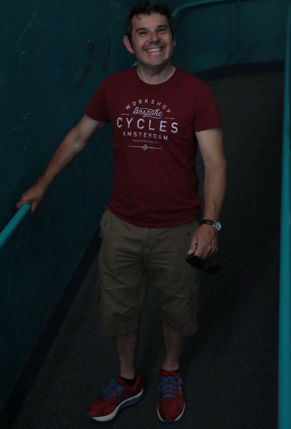 Jamie at the aquarium