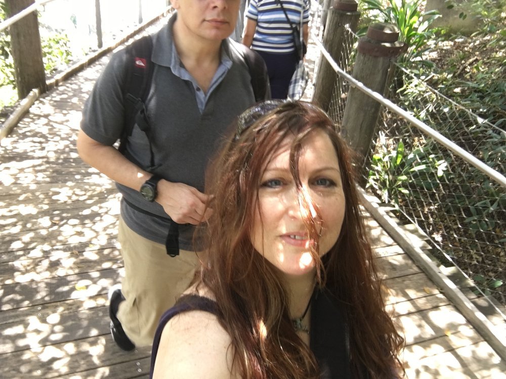 Lee (decapitated!) & me at Taronga zoo
