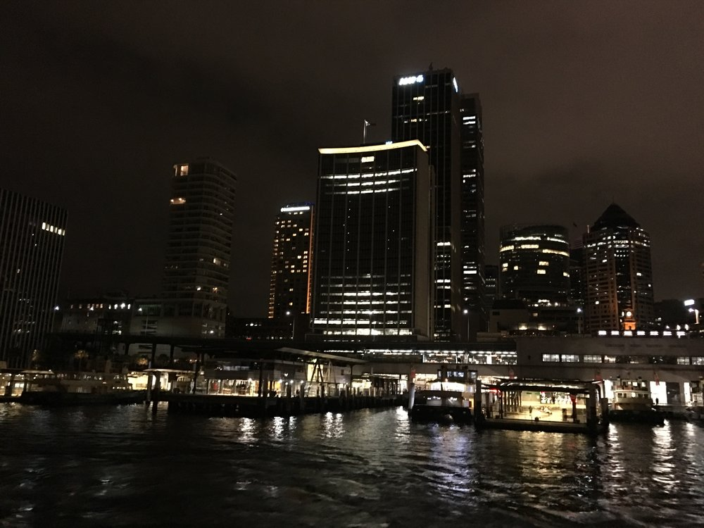 Back on the ferry & approaching Darling Harbour