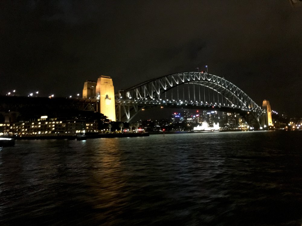 Last view of the bridge tonight!