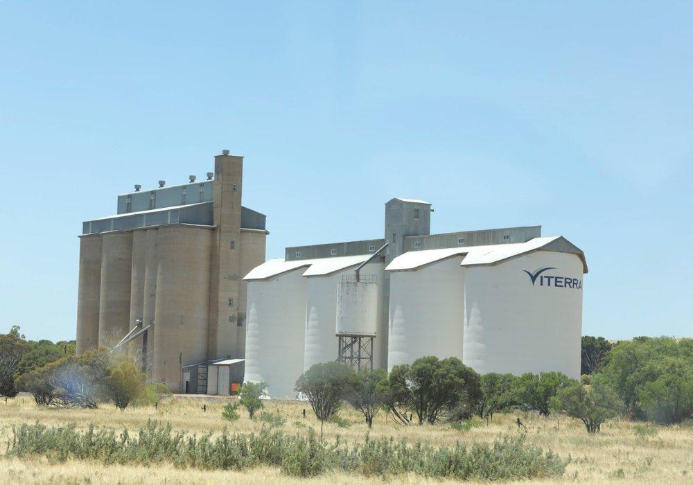 Grain silo I think!