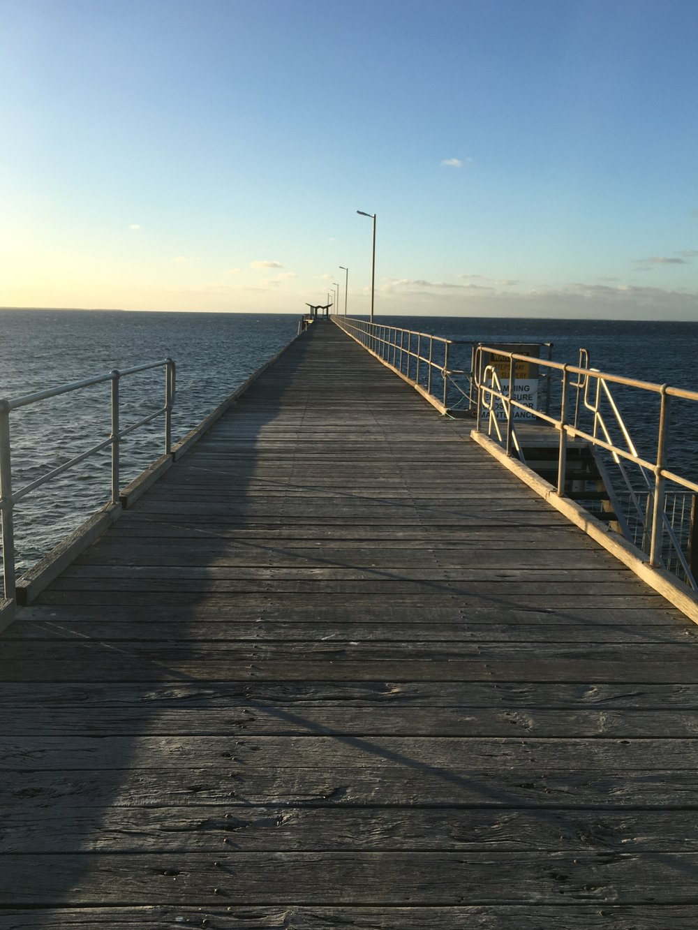 Wooden jetty, Smoky Bay