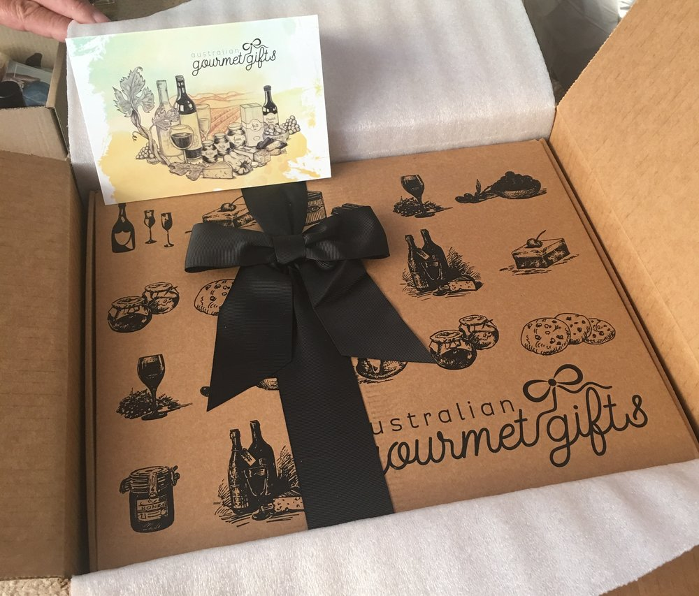 Our gourmet box from cousin Darren :)