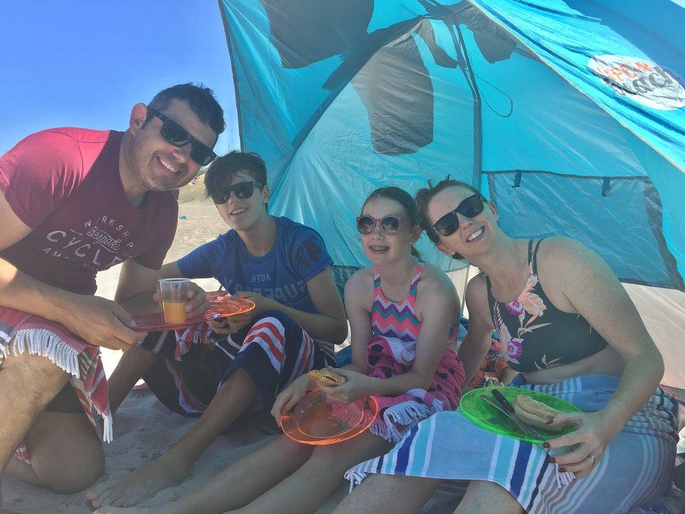 Champers & croissants :) Jamie, Lewis, Ella & Claire