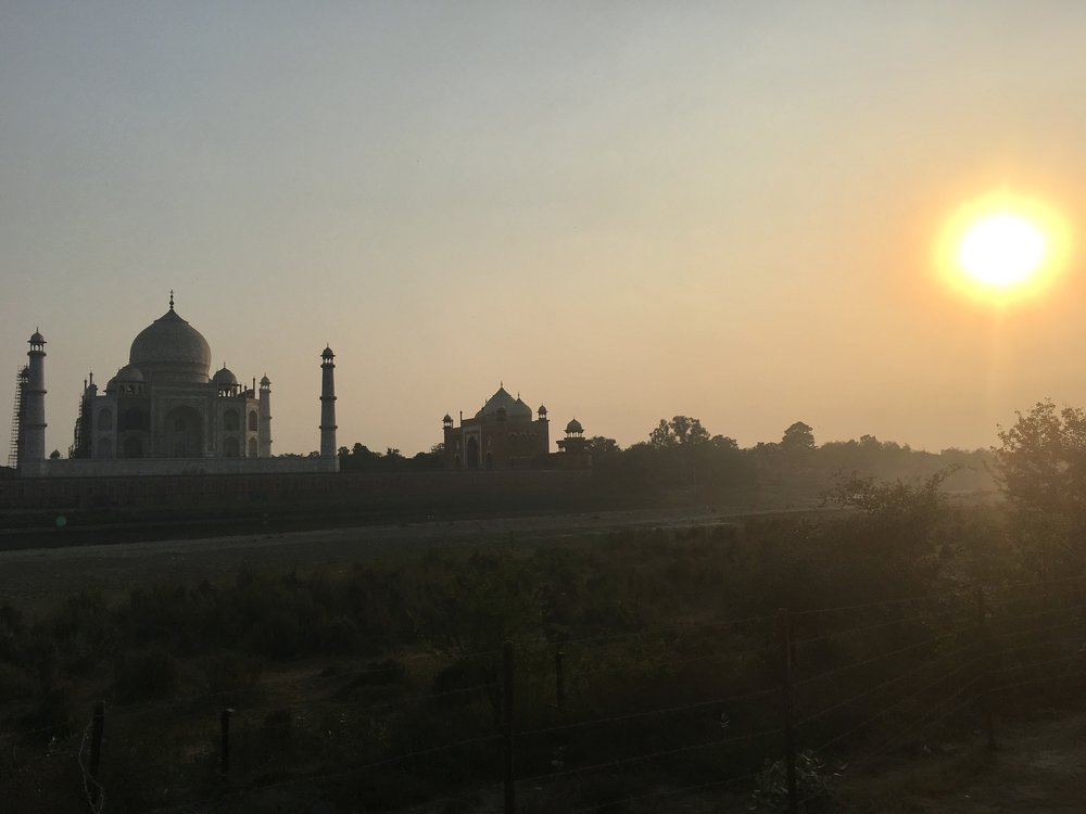 The Taj Mahal & the West Gate from behind