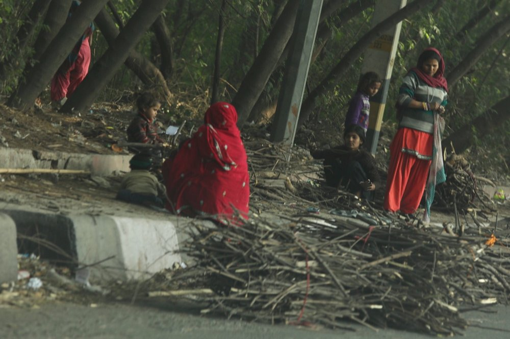 Street side slum life