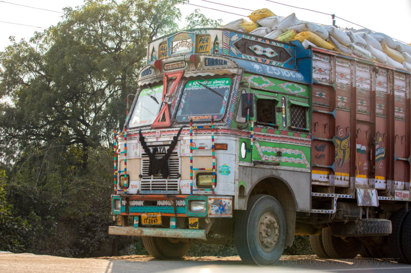 Truck of many colours, Uttar Pradesh, India