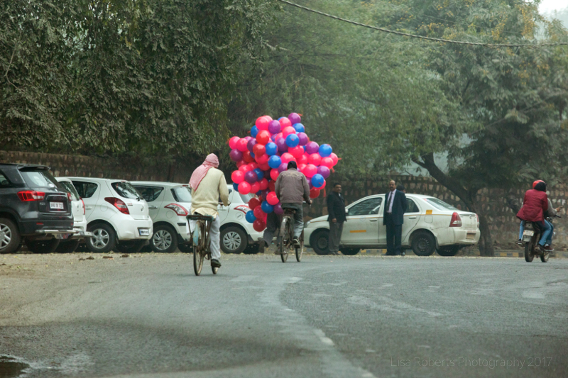 Balloon seller, Agra, Uttar Pradesh, India