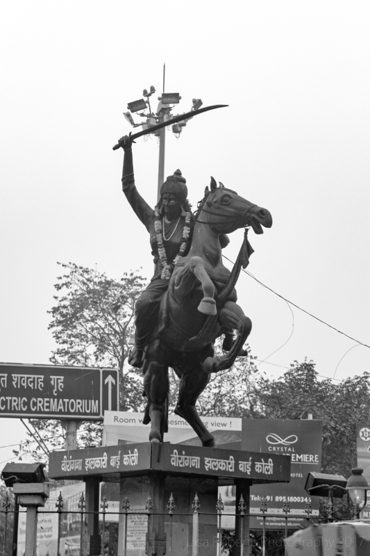 Statue of Rani Laxmi Bai, Agra, Uttar Pradesh, India