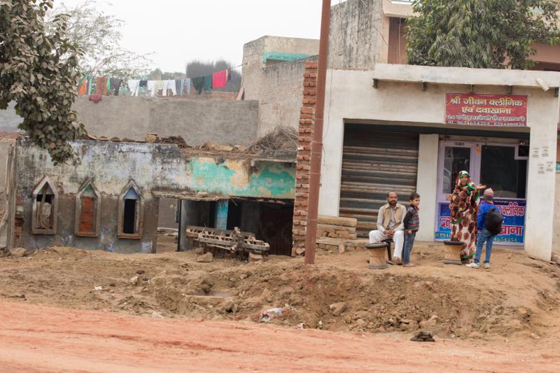 Street scene, Gokul, India