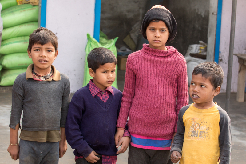 Four children, Mathura, Uttar Pradesh, India
