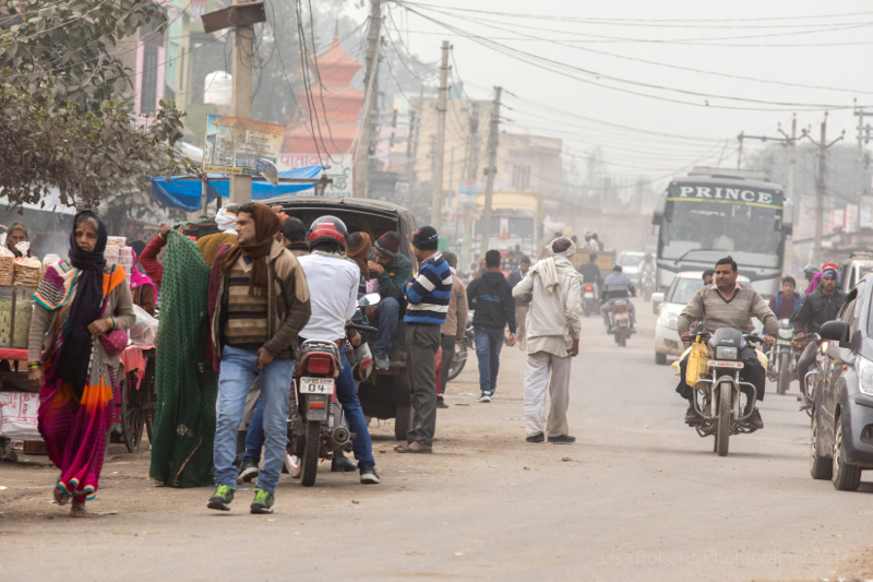 Busy street, Chhata, India