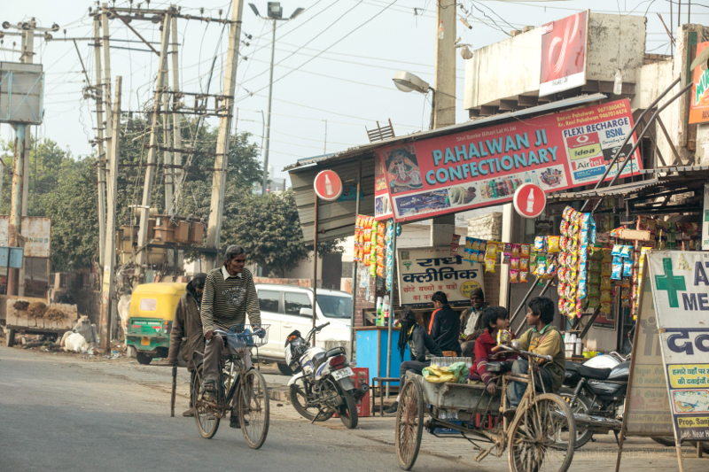 Outside the shop, Palwal, India