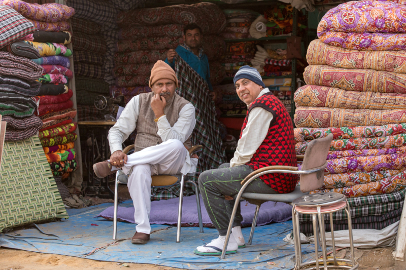 Carpet sellers, Gargaon, Haryana, India