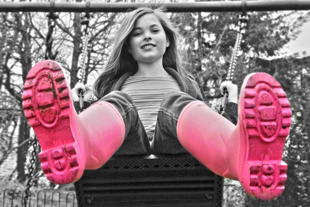 Beth swinging