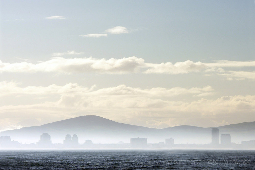 Misty view across Cape Town Harbour, Western Cape, South Africa