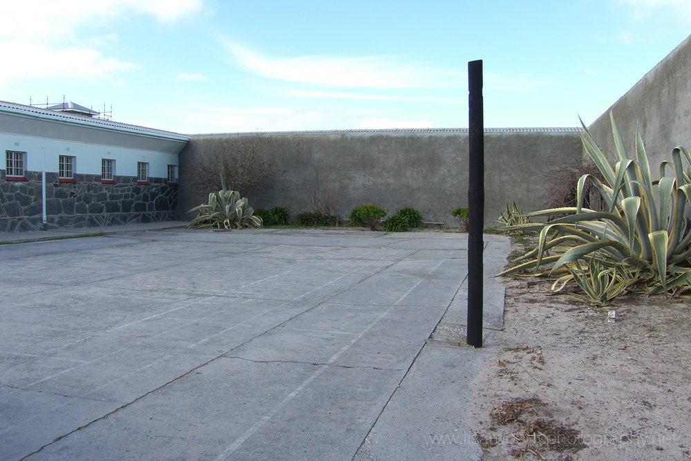 Prison yard used by Nelson Mandela, Robben Island Prison, Robben Island, Western Cape, South Africa