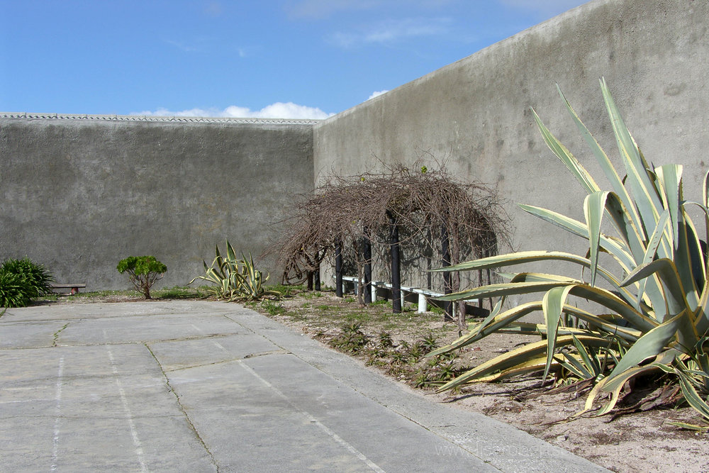 Prison yard where Nelson Mandela hid his diary, Robben Island Prison, Robben Island, Western Cape, South Africa