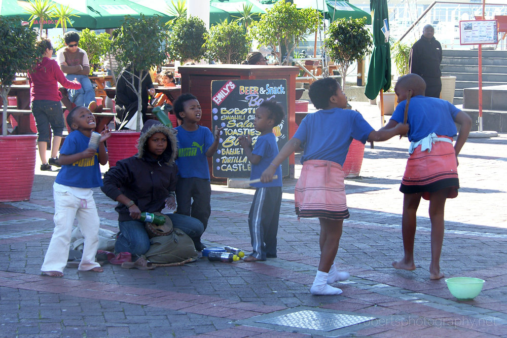 Dancers, Cape Town Harbour, Western Cape, South Africa