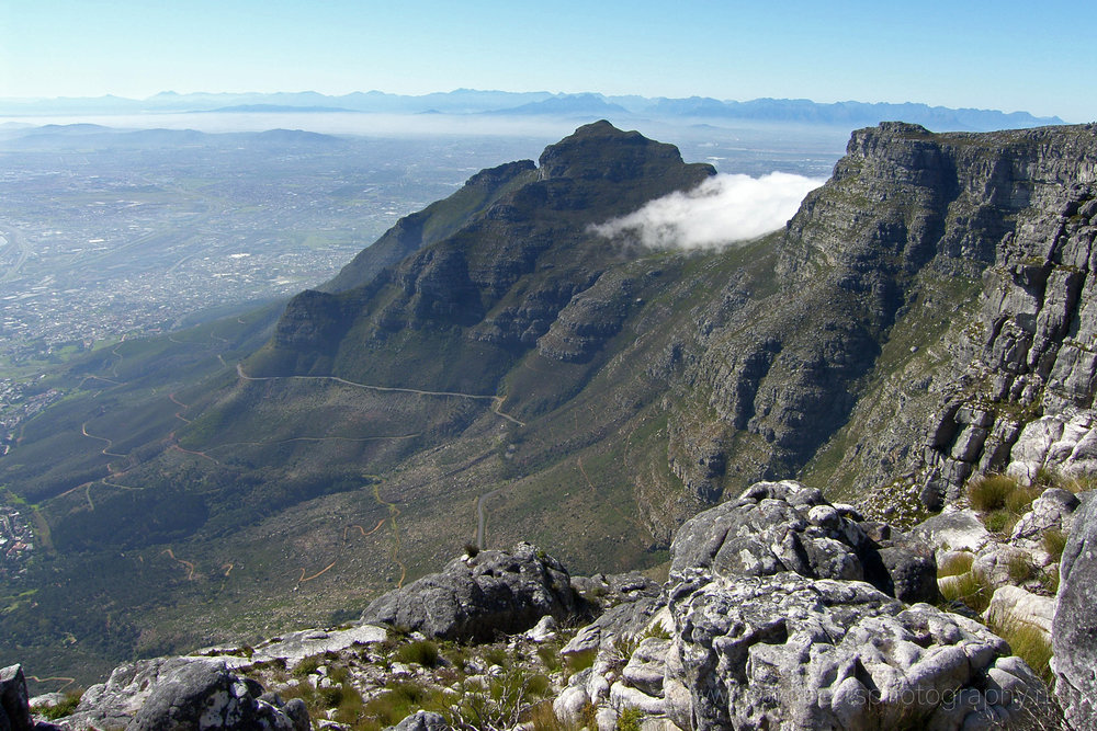 View from on top of Table Mountain, Cape Town, Western Cape, South Africa