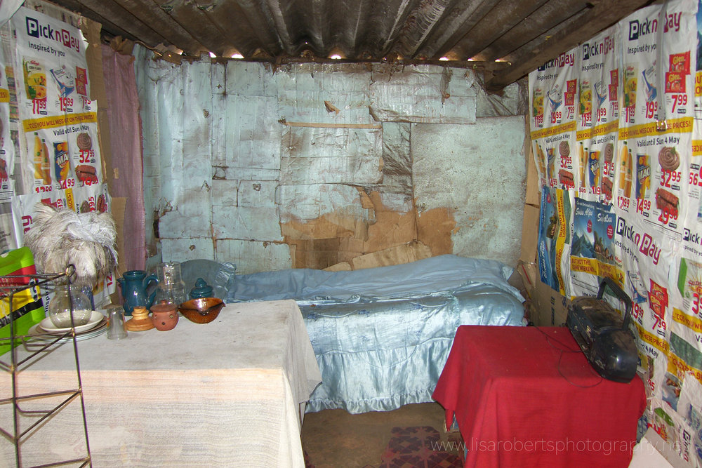 Inside a typical house in House in local Village, Eastern Cape, South Africa