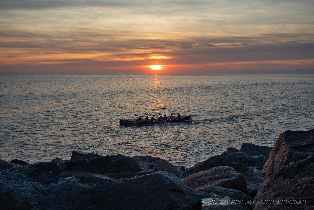 West Bay Sunset, Dorset England