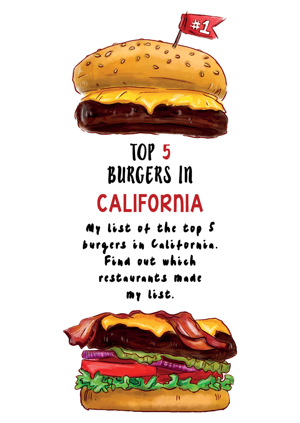 Must Eat Sandwiches in California - My list of the top five burgers and sanswiches in California. Find out which restaurants made the list (..)