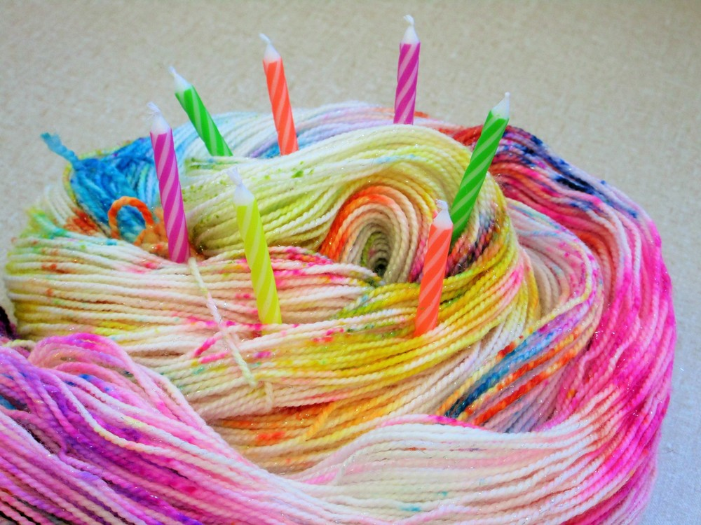 Party Like It 39 S Your Birthday Sock Yarn Sparkly