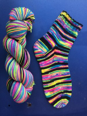Self Striping Sock Yarn — home