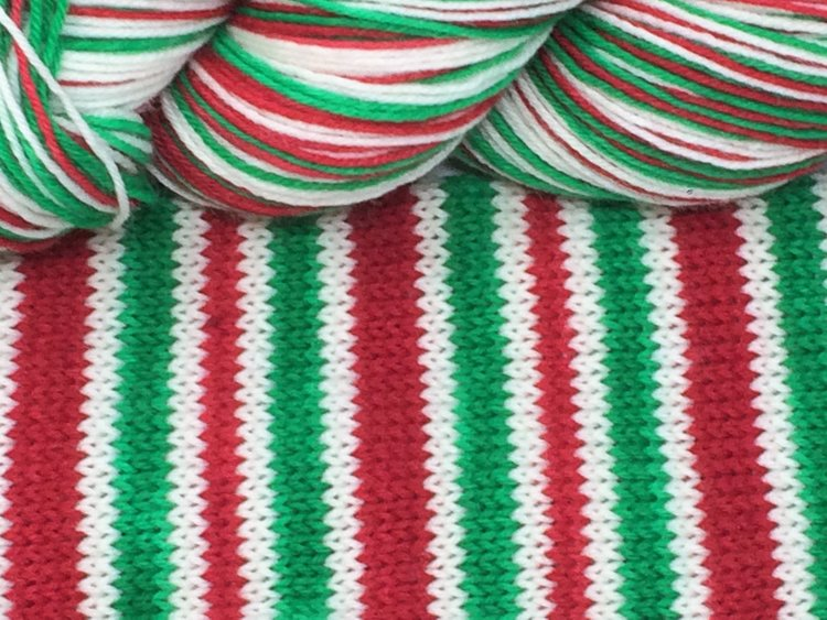 twas the night before christmas self striping sock