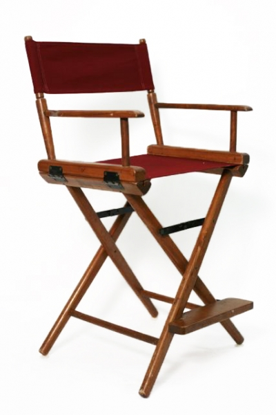 MEDIUM DIRECTORS CHAIR WITH CANVAS SEAT