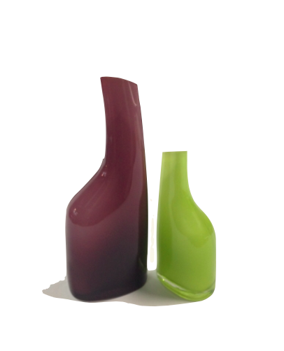Purple And Green Glass Vases Purple Hook Props