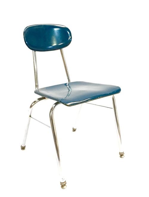 blue school chair. BLUE METAL SCHOOL CHAIR Blue School Chair L