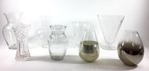Assorted Crystal Vases Hook Props