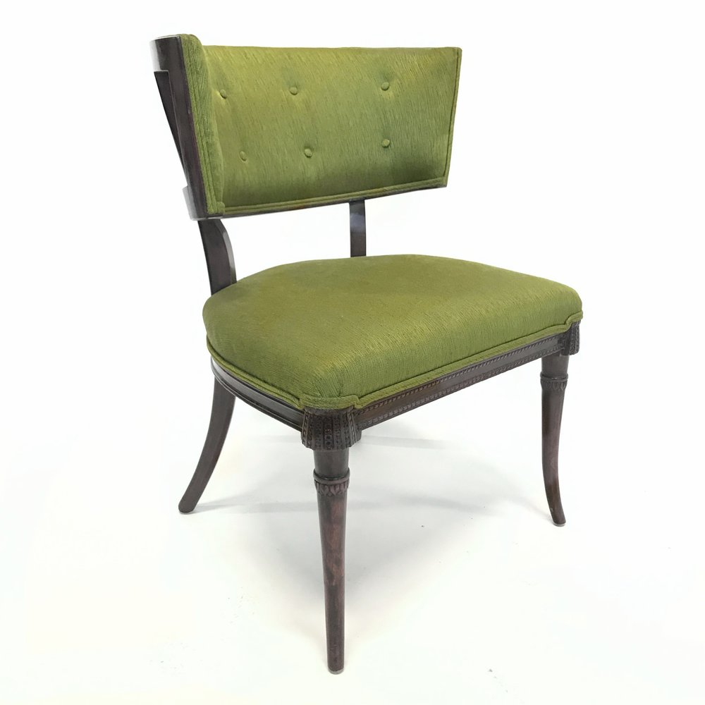 Superbe MID CENTURY BARREL CHAIR WITH BLUE COVER OPTION
