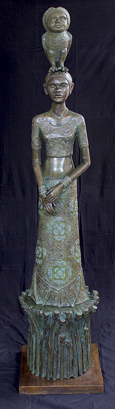 "Night | Bronze sculpture | 88"" x 22"" x 22"""