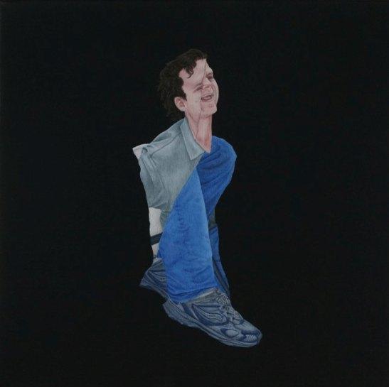 """Praneet Soi   Jeremiah   Acrylic on canvas   12.5"""" x 12.5""""   2008"""