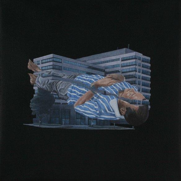 """Praneet Soi   The Dream   Acrylic on canvas   12.5"""" x 12.5""""   2008"""